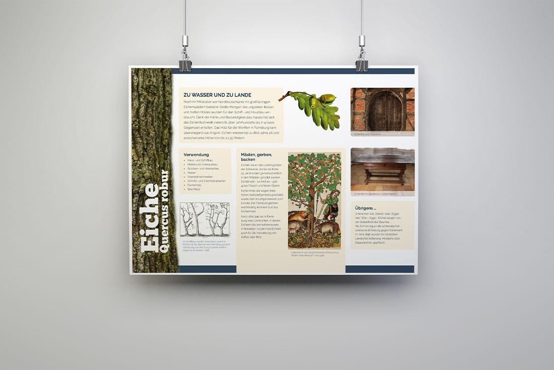 Baumerlebnispfad Unewatt · Infotafeln