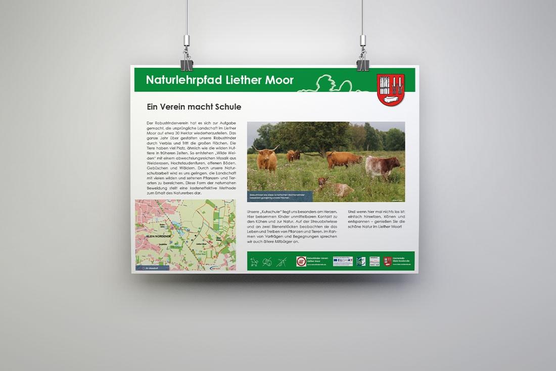 Liether Moor Infotafeln