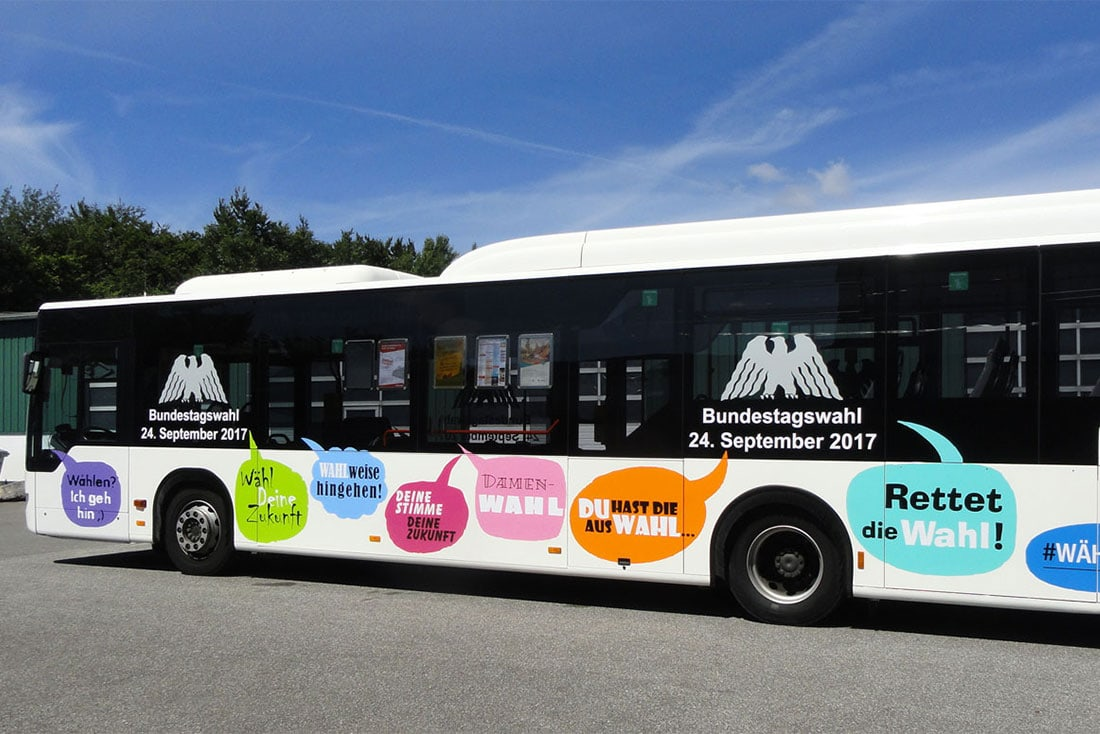 Aktiv Bus · Fahrzeuggestaltung