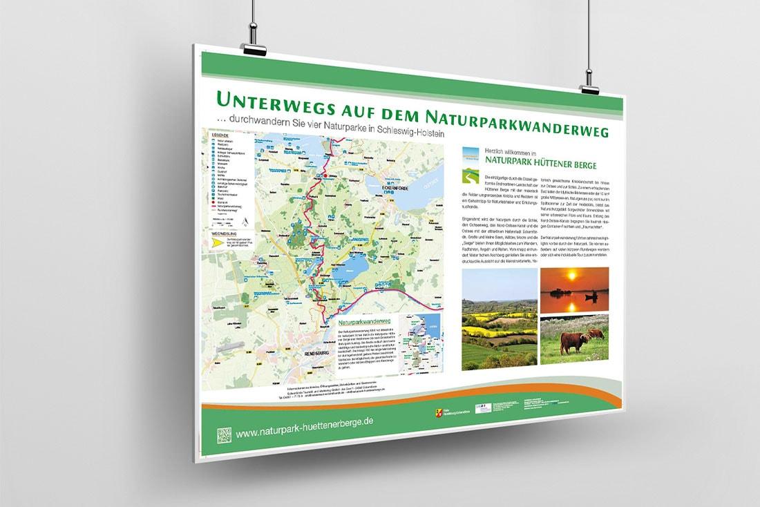 Naturparkwanderweg Hüttener Berge · Leit- und Informationssystem