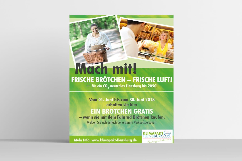 """Klimapakt Flensburg · Kampagne """"Frische Brötchen – Frische Luft"""""""