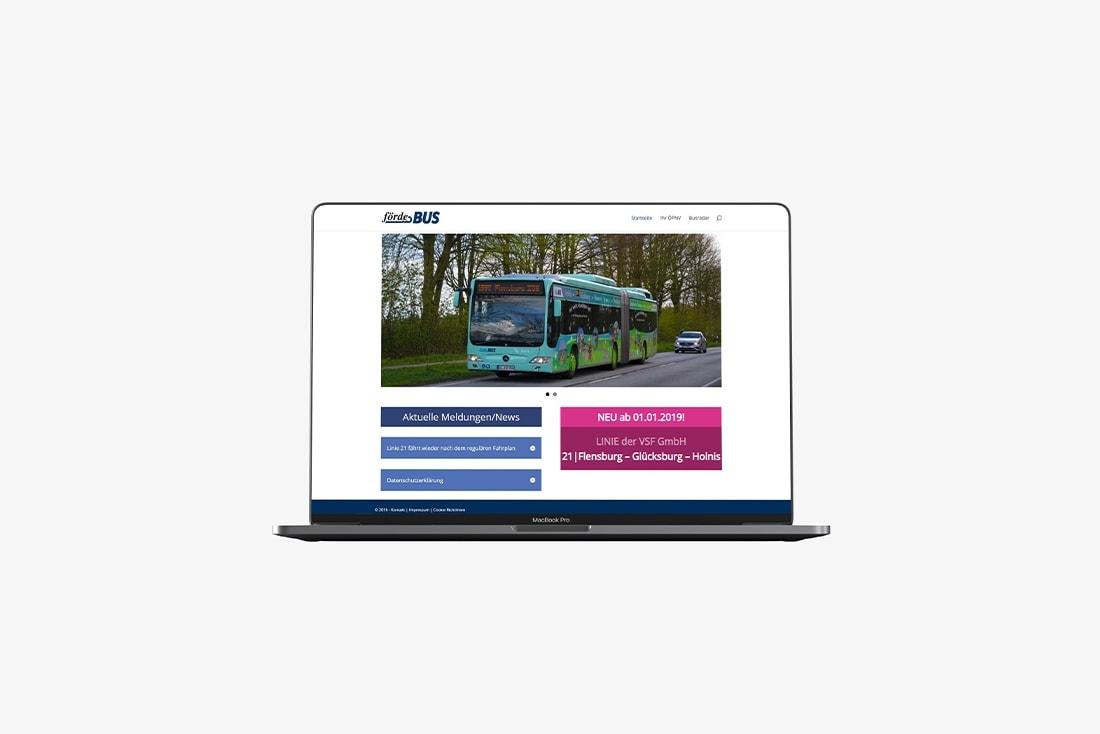 Förde Bus · Webseite