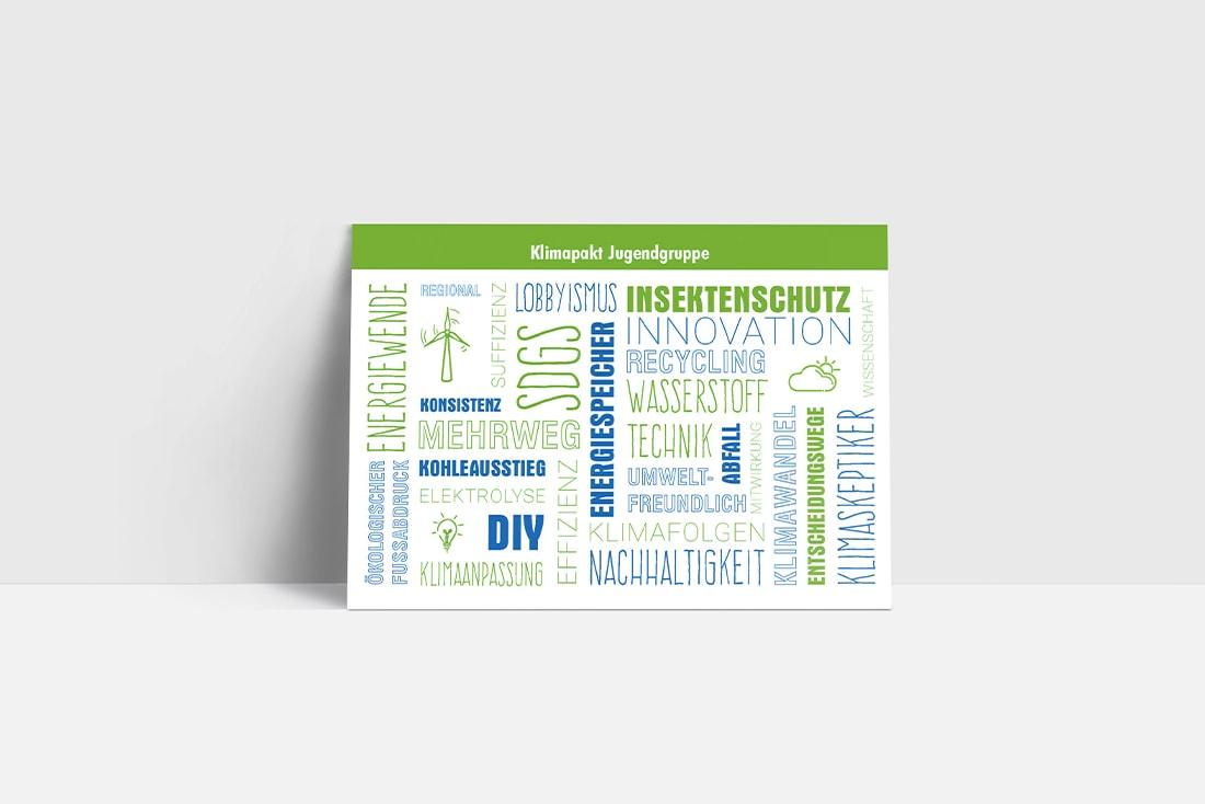 Postkarte· Klimapakt Jugendgruppe